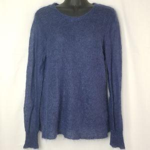 J. Jill Mohair Wool Blend Light open knit sweater